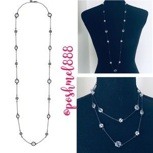 :: S&D Retired Hematite & Crystal Chelsea Necklace